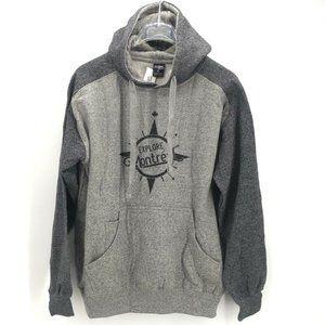River Wear Unisex Hoodie Gray Long Sleeves Size L